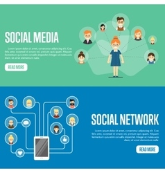 Social media network website templates vector