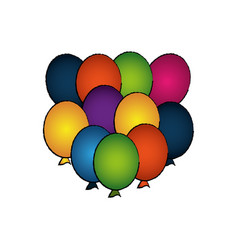 Party balloons air celebration vector