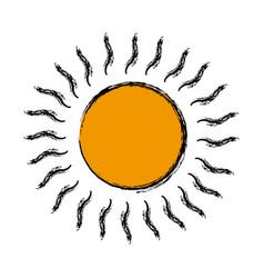 Cartoon sun weather day climate icon vector
