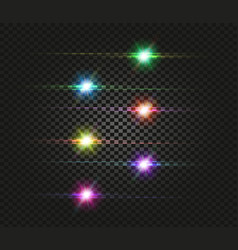 Flash space green turquoise yellow red pink vector
