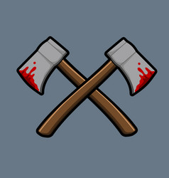 Cross bleeding ax vector