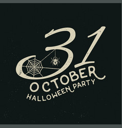 31 october halloween party concept vector image vector image