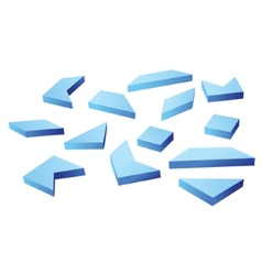 Many blue geometrical figures vector