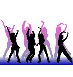 dancing peoples vector image