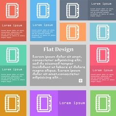 Book icon sign set of multicolored buttons with vector