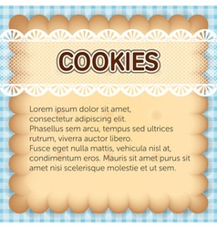 Cute rectangle cookies with lace on blue vector