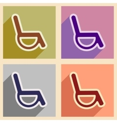 Icons of assembly wheelchair in flat style vector