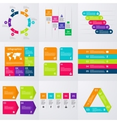 Stock set of infographics vector