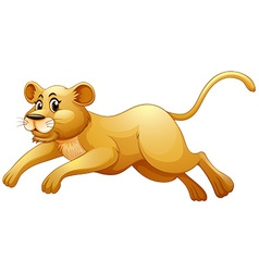 Little cub running alone vector