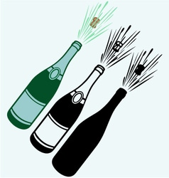 Close-up of champagne explosion vector
