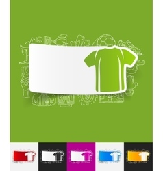 Shirt paper sticker with hand drawn elements vector