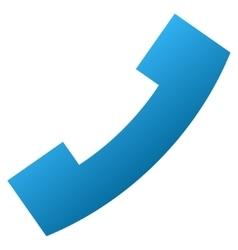 Phone receiver gradient icon vector