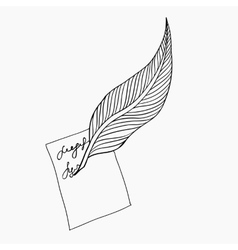 Feather icon feather writing tool icon vector
