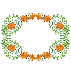 A vine plant with flower border vector