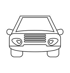Car vehicle transport front view outline vector