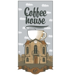 Coffee house the best in town vector
