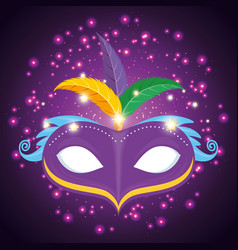 Colorfull mask mardi gras carnival vector