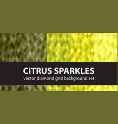 diamond pattern set citrus sparkles seamless vector image vector image