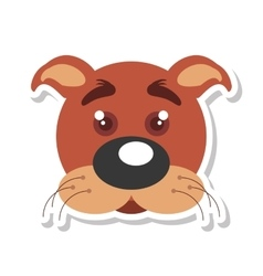 Dog mascot cartoon isolated icon vector