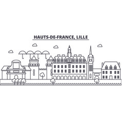france lille architecture line skyline vector image vector image