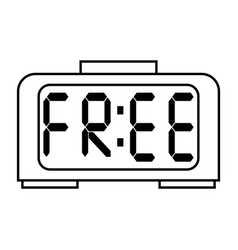 Free digital clock vector