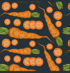 fresh organic vegetables pattern vector image