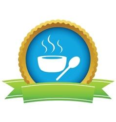 Gold soup logo vector image