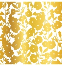 Golden Blossom Flowers Summer Seamless vector image