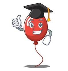 Graduation balloon character cartoon style vector