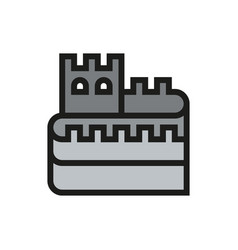 Great wall of china icon on white background vector