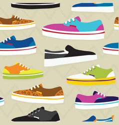 Hand drawn cartoon style skateboarding sneaker vector