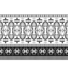 horizontal seamless border Beautiful vector image vector image