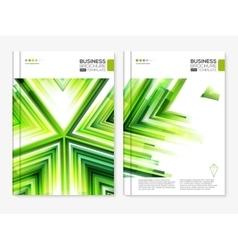 Modern abstract brochure design set vector