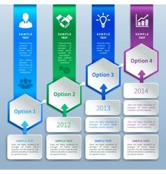 Paper infographics options vector