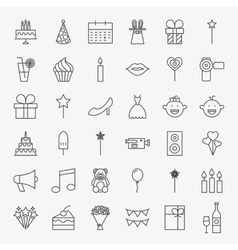 Party Line Icons Set vector image vector image