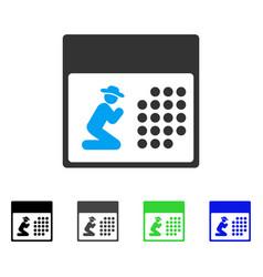 Pray calendar flat icon vector