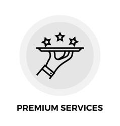 Premium Services Line Icon vector image