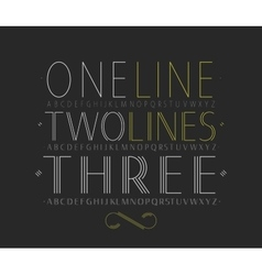 set of three capital alphabets vector image