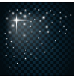 Shine star sparkle icon 3 vector