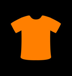 t-shirt sign orange icon on black background old vector image