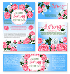 Templates set for spring time greetings vector