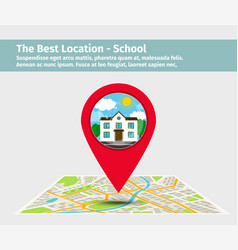 the best location school vector image vector image