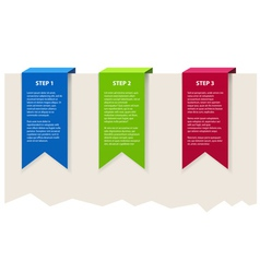 Three color banners with sample text vector image vector image