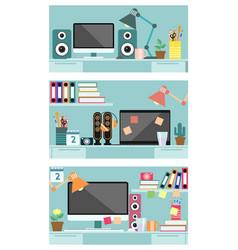 Three variants of desktop vector