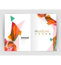 Unusual abstract corporate business brochure vector image