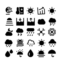Weather icons 4 vector