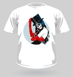 shirt katrina vector image