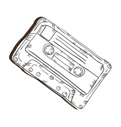 retro cassette tape vector image