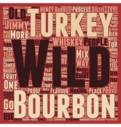 Wild turkey american whisky text background vector