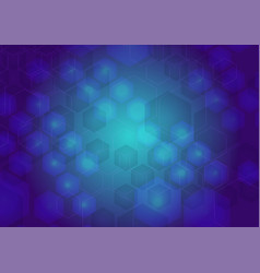 abstract blue cyber background vector image